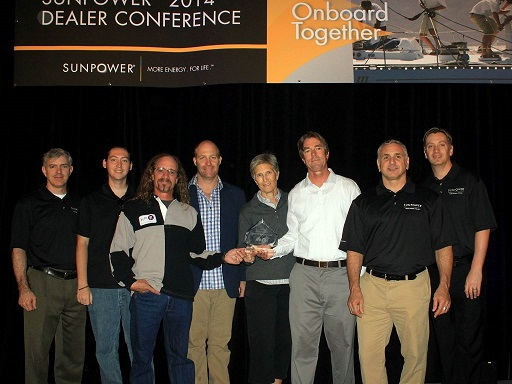 Sunpower Intelegant Dealer Award